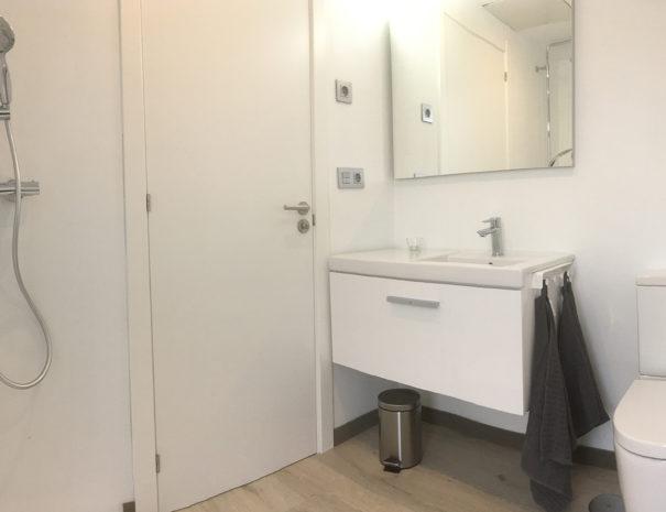 baño apartamento vacacional chalana