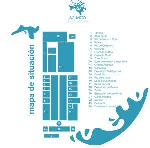 mapa acuario o grove