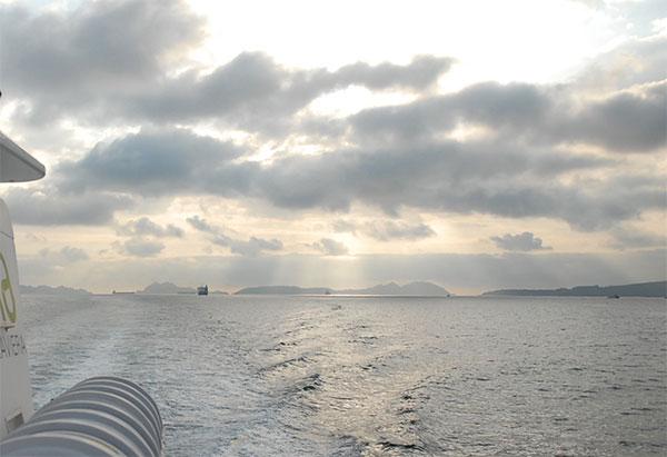 paseo barco ria arousa